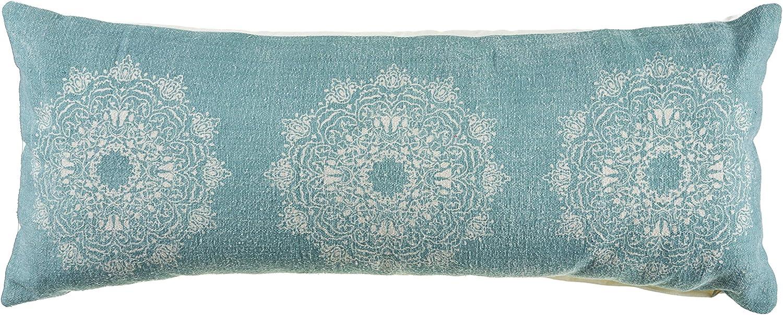 LR Home Ornate Tri-Medallion Throw Pillow Cream x Teal Ranking Luxury TOP5 14