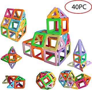 dreambuilderToy Magnetic Tiles Building Blocks Toys 40 PCS (40 PC Set)