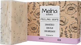 Meina Naturkosmetik - Scrub Seife mit Lavendel und Mohn, Bio Naturseife - Palmölfrei, Natürlich, Vegan, Handgemacht 1 x 100 g