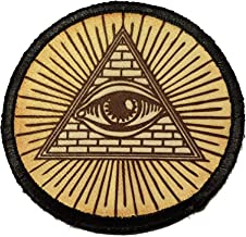 Illuminati All Seeing Eye Tactical Patch Made in The USA- Patches Perfect for Your Plate Carrier Military Vest, hat, Backpack. Funny Patch by Redheadedtshirts!