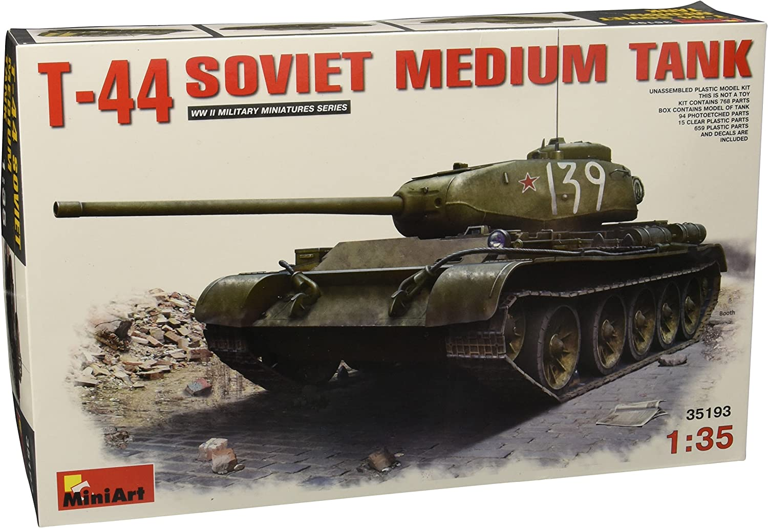 MIN35193 Various Kit, Model Tank Medium Soviet 44 T