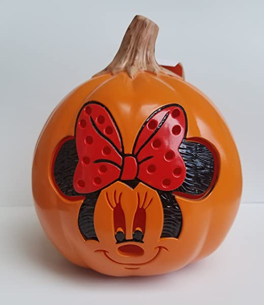 Seasons USA 7 Inch Minnie Mouse Plastic Light Up Mini Pumpkin