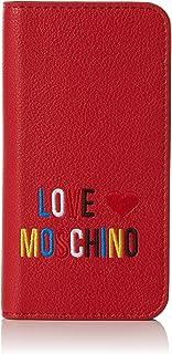 Love Moschino Damen Portacel.Small Grain PVC Rosso Clutch, rot (Red), 2 x 14 x 7 cm