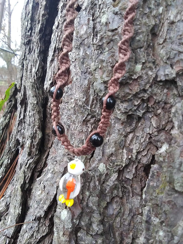 BEACH Japan Maker New HEMP JEWELRY Mushroom Necklace Choker Handmade In USA Free shipping New