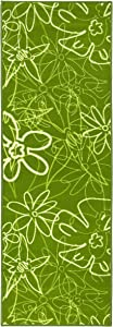 onloom - Teppiche Online Runner Lavabili certificati Öko-Tex 100, Antiscivolo, Colore: Verde, 2 Misure Disponibili (67 x 200 cm, Verde)