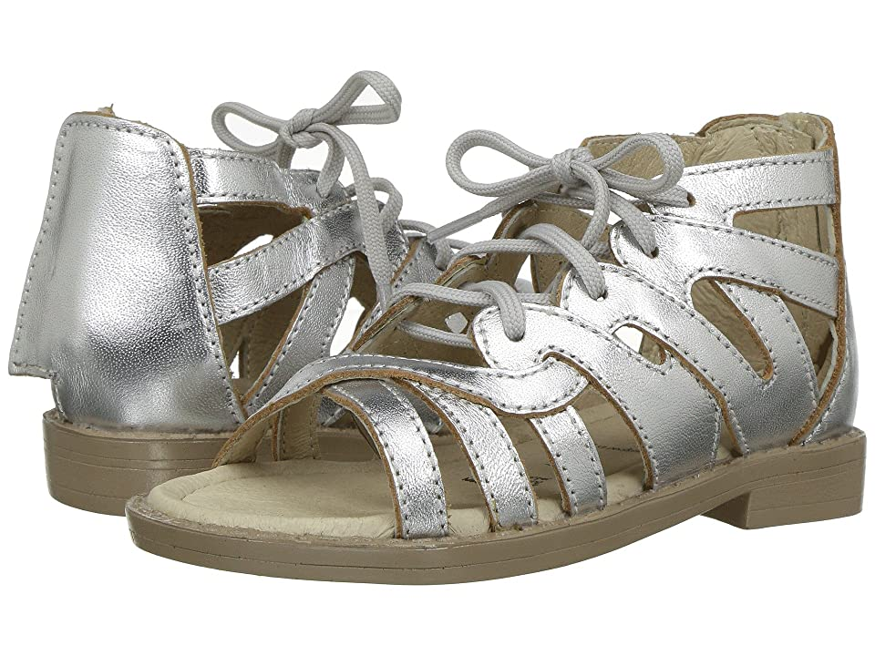 Old Soles Glamourama Sandal (Toddler/Little Kid) (Silver) Girls Shoes