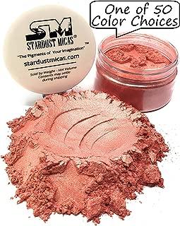 Natural Blush Powder, Mica Powder for Makeup, Cosmetic Grade Mica Pigment Powder, Coral Blush Pigment Powder, Make Your Own Cosmetics, Bath Bombs, Stardust Micas Golden Guava