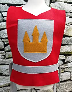 Adult Red Knight Costume Tunic (King, Prince, Medieval, Solider) - Baby/Toddler/Kids/Teen/Adult Sizes