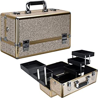 Ver Beauty 6-tiers Accordion Trays Professional Cosmetic Makeup Train Case Organizer Travel Brush Holder - Vk3203