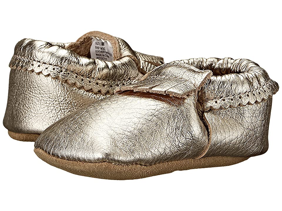 Hanna Andersson Baby Moc (Infant/Toddler) (Light Gold) Girls Shoes
