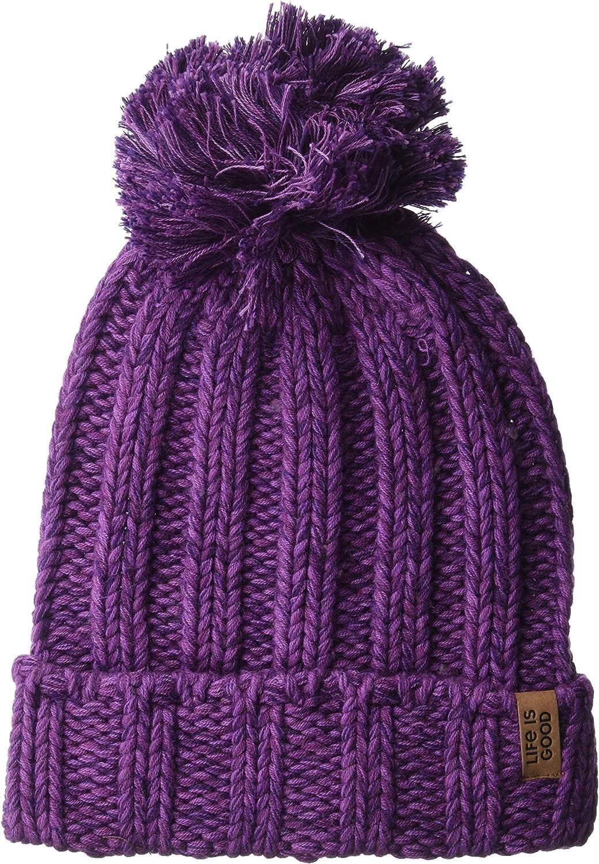 Life is Good Women's Slouchy Pom Winter Beanie Hat