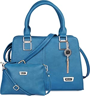 FIESTO FASHION PU Leather Latest Trendy Fashion Ladies Handbag With Sling Combo 2pcs Purse Set