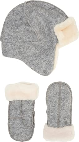 UGG Kids - Wool Trapper/Mitten Set (Toddler/Little Kids)