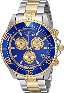 Invicta Men's Pro Diver Quartz Diving Watch with Stainless-Steel Strap, Two Tone, 21.7 (Model: 26851)