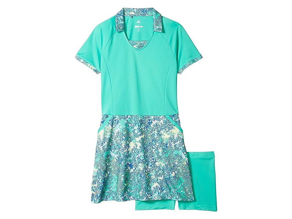 Image of adidas Golf Kids Rangewear Dress (Big Kids) (Hi-Res Green) Girl's Dress