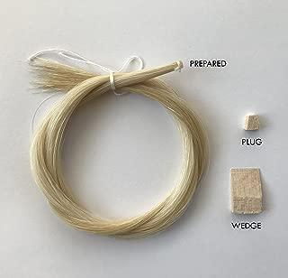 MI&VI Premium Quality Mongolian Horse Hair for Violin, Viola Bows - Unbleached, White 29.5