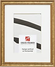Craig Frames 314GD 20 x 24 Inch Ornate Gold Picture Frame Matted to Display a 16 x 20 Inch Photo