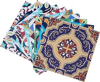 Topmail 10 Piezas Azulejos Adhesivos Suelo 15x15cm Azulejos Vinilo Adhesivo Adhesivo Decorativo para Azulejos para baño y Cocina Stickers