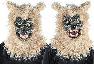 Men's Horror Animated Werewolf Animal Mask Halloween Costume Accessory
