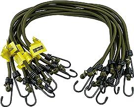 Savage Island 10 pack Heavy Duty Elastic Military Bungee Cords Olijf Groen 8mm