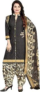 Monira Women's Crepe Printed Dress Material with Dupatta