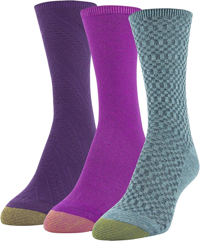 Gold Toe womens Textured Crew Socks