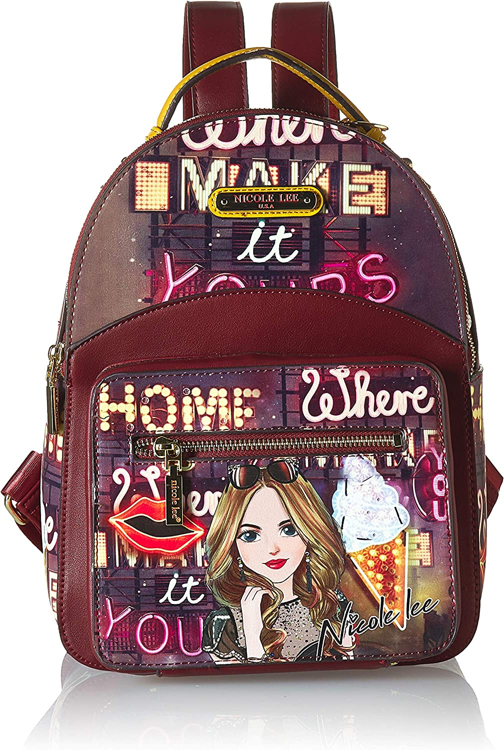 Nicole Lee Women's Adeen Smart Lunch Vol. 2 Backpack, Girl's Night Out, One Size
