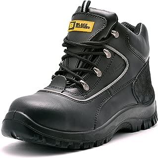 para Hombre de Piel de Botas de Seguridad para Hombre Puntera de Acero de Seguridad Botas de Seguridad S3 Calzado de Trabajo Tobillo Piel Negro Martillo 7752