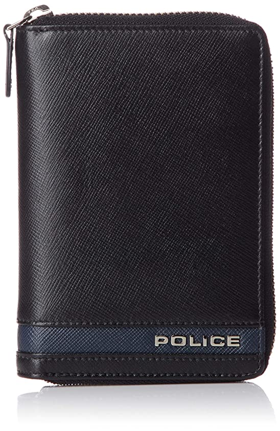 ロック白内障より平らな[ポリス] ラウンドファスナー財布 PLC137