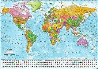Póster XXL Mapa del mundo con banderas - Versión 2018 (