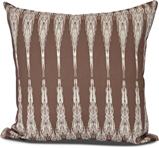 "E by design PG863BR14-16 Peace 1 Decorative Geometric Throw Pillow 16"" Maroon"