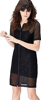 Marca Amazon - find. Vestido Camisero de Encaje Mujer