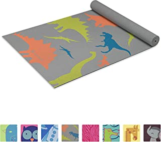 Gaiam Kids Yoga Mat Exercise Mat, Yoga for Kids with Fun Prints - Playtime for Babies, Active & Calm Toddlers and Young Ch...