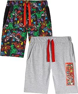 Marvel Pantalones Cortos, Pantalon Corto Niño con Los Vengadores Iron Man Capitan America Thor y Hulk, Pantalon Pijama Niñ...