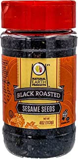 Natural Earth Products - Black Roasted Sesame Seeds - OU-Kosher Parve - 4 Oz (113 g) (Single)