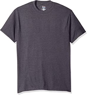 Hanes Men's Short Sleeve Beefy-T, Smoke Gray, Large