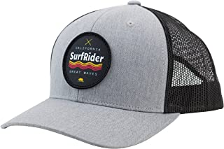 0f06109c Trucker Hat California Surf Rider Sublimated Patch, Cotton Low Profile Mesh  Adjustable Snapback Men &