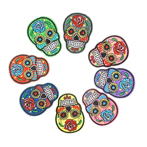 Dress 2 Party School of Rock  Iron on appliques Pirate skull patch 5 pcs