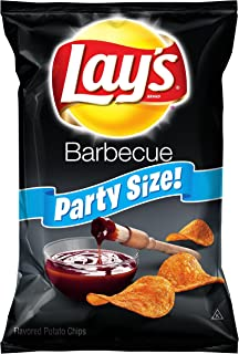 Lay's Potato Chips, Party Size Barbecue, 15.25 Ounce