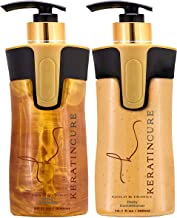 Keratin Cure Gold & Honey 2 Piece Hair Care Sulfate Free Shampoo, Conditioner for Repair Moisturize with Protein & Organic Extracts for keratin treated hair (300ml/ 10 fl oz)