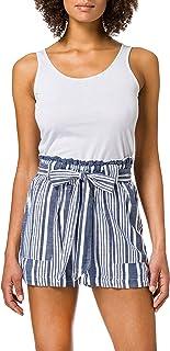 Only Onllavana Stripe Dnm Paperbag Shorts Pantalones Cortos para Mujer