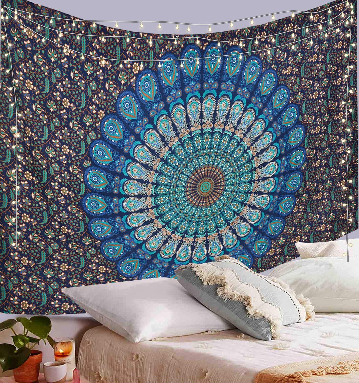 Regular discount Challenge the lowest price of Japan ☆ ANJANIYA Indian Hippie Bohemian Wall Peacock Mandala Psychedelic