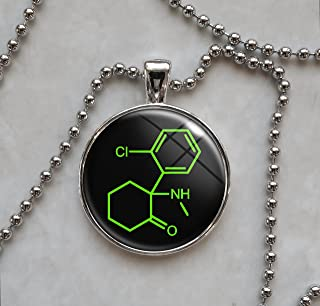 ketamine molecule necklace