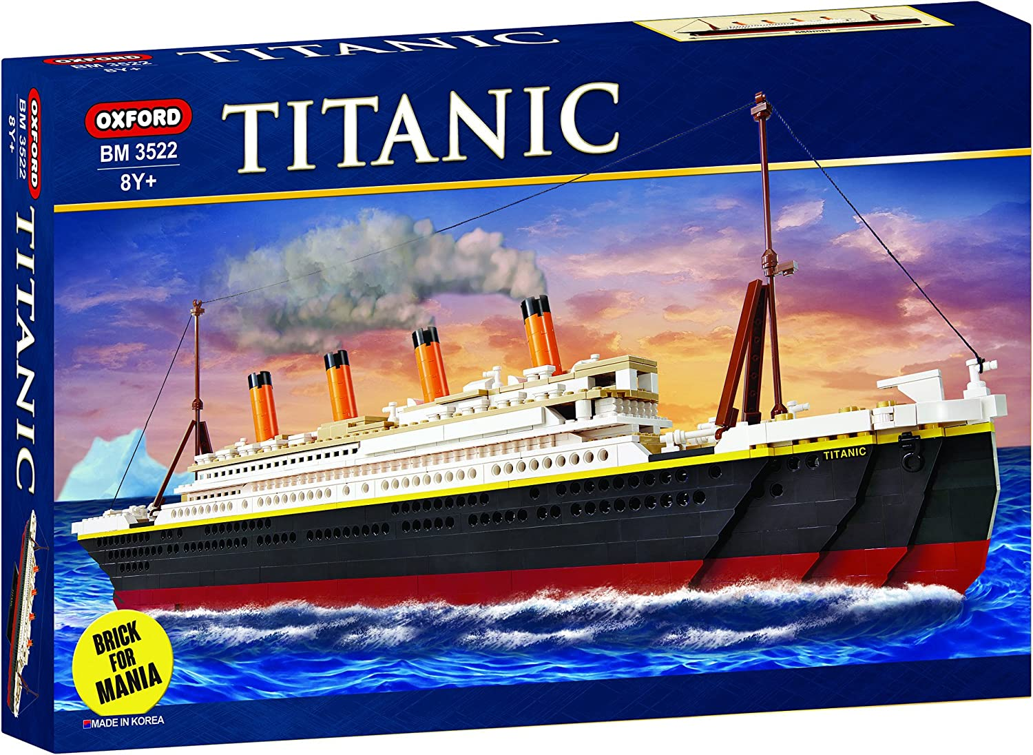 la red entera más baja Oxford Titanic Building Block Kit, Kit, Kit, Special Edition Assembly Blocks BM 3522 by Oxford Block  promociones emocionantes