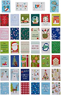 American Greetings Christmas Lunch Box Mini Notes, Holiday Cheer, 40-Count