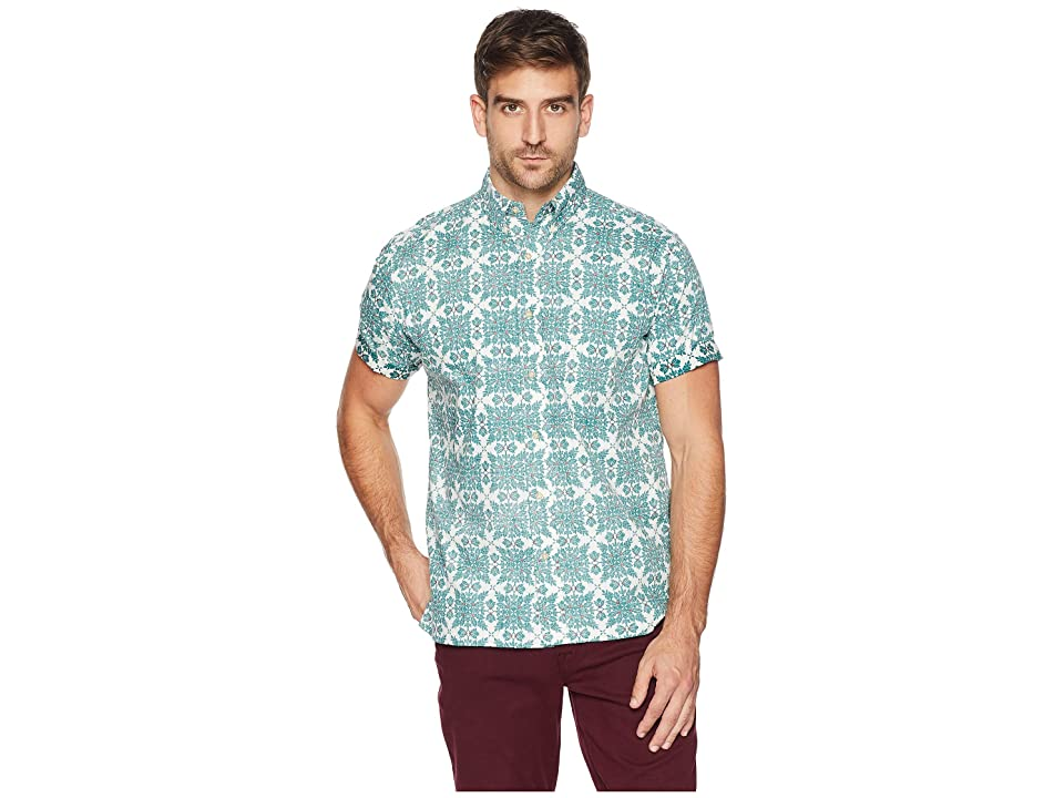 Reyn Spooner Christmas Quilt Classic Fit Aloha Shirt (Mint) Men