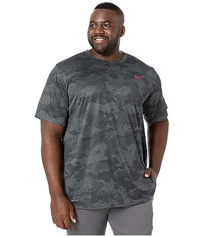 Nike Big Tall Dry Legend T-Shirt Camo All Over Print (Iron Grey/Black) Men