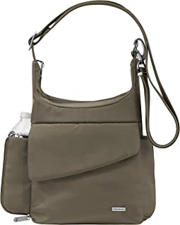 Travelon Anti-Theft Classic Messenger Bag, Nutmeg