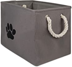 Bone Dry Collapsible Bin, Medium Rectangle, Gray
