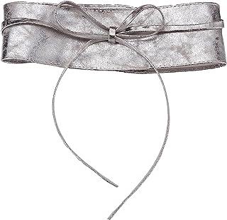 KRISP Cintura Donna Elastica Alta Elegante Ciremonia Ragazza Nera Gravidanza x Camice